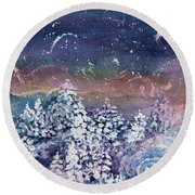 Winter Solstice  Round Beach Towel by Kathy Bassett