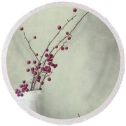 Winter Still Life Round Beach Towel