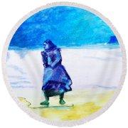Winter Tide Walker Round Beach Towel by Seth Weaver