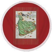 Winter Vogue Round Beach Towel