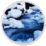 Winter Yosemite National Park Ca Round Beach Towel by Panoramic Images