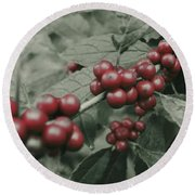 Winterberry Round Beach Towel