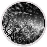 Winterfold - Monochrome Round Beach Towel