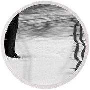 Winters Light Round Beach Towel by Kenny Glotfelty
