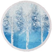 Wintry Mix Round Beach Towel
