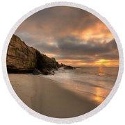 Wipeout Beach Sunset Round Beach Towel
