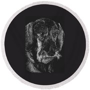 Wire Haired Dachshund Round Beach Towel