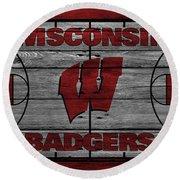 Wisconsin Badger Round Beach Towel