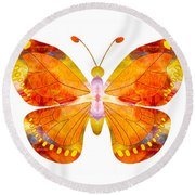 Wisdom And Flight Abstract Butterfly Art By Omaste Witkowski Round Beach Towel