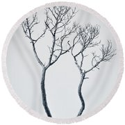 Wishbone Tree Round Beach Towel by Carolyn Marshall