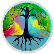 Wishing Tree Round Beach Towel