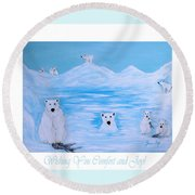 Wishing You Comfort And Joy Round Beach Towel