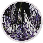 Wisteria Dreams Round Beach Towel