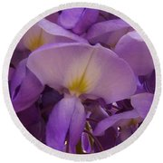 Wisteria Parasol Round Beach Towel by Claudia Goodell