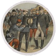With The Army Manoeuvres The Duke Round Beach Towel