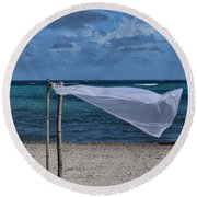 With The Wind Round Beach Towel