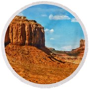 Round Beach Towel featuring the photograph Witnesses Of Time by Hanny Heim