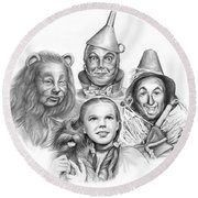 Wizard Of Oz Round Beach Towel by Greg Joens