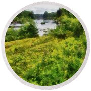 Wolf River Round Beach Towel
