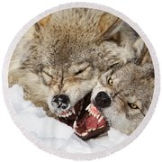 Wolves Rules Round Beach Towel