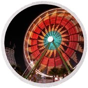 Wonder Wheel - Slow Shutter Round Beach Towel