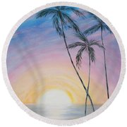 Wonderful Sunrise In Paradise Round Beach Towel