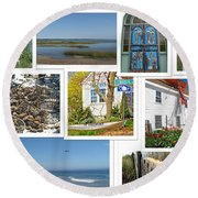 Wonderful Wellfleet Round Beach Towel