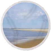 Wonderful World Round Beach Towel by Kim Hojnacki