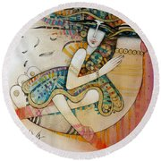 Wonderland Round Beach Towel