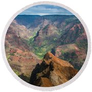 Wonders Of Waimea Round Beach Towel by Suzanne Luft