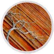 Wood And Stone Round Beach Towel