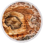 Wood Detail Round Beach Towel