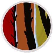 Round Beach Towel featuring the digital art Wood L by Christine Fournier