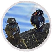 Round Beach Towel featuring the photograph Wood You Love Me Forever by Robert Meanor