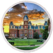Woodburn Hall Evening Sunset Round Beach Towel