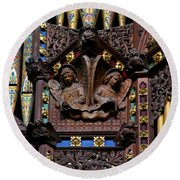 Wooden Angels Ely Cathedral Round Beach Towel