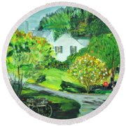 Wooden Duck Inn Round Beach Towel