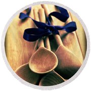 Wooden Spoons Round Beach Towel