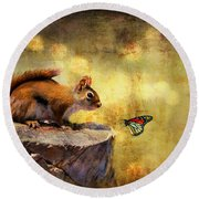 Woodland Wonder Round Beach Towel