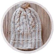 Wool Hat Round Beach Towel