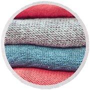 Wool Jumpers Round Beach Towel