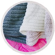 Wool Scarf Round Beach Towel