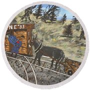 The Coal Mine Round Beach Towel