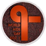 World Aids Day Round Beach Towel