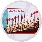World Champions Flags Round Beach Towel