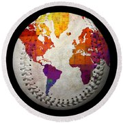 World Map - Rainbow Bliss Baseball Square Round Beach Towel