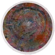 World Of Colours Round Beach Towel