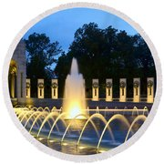 World War II Memorial Round Beach Towel by Allen Beatty