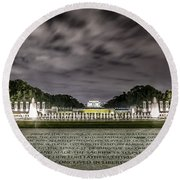 World War II Memorial Round Beach Towel