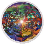 World Within A World Round Beach Towel